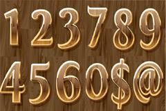 实用木纹立体数字矢量素材