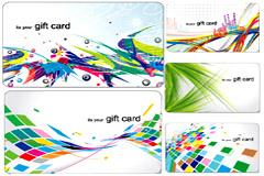 潮流动感礼品卡背景矢量素材