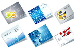 多款卡片背景立体效果矢量素材
