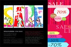 购物主题网页设计模板矢量素材