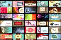 缤纷潮流卡片模板设计矢量素材
