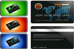 商务风格银行卡模板矢量素材