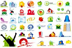 数款房子主题logo图形设计矢量素材