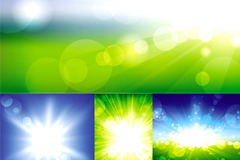 光线爆发背景矢量素材