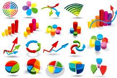 各种常用立体数据图矢量素材