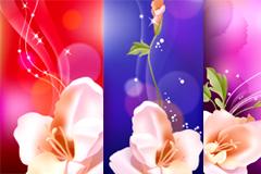 精美梦幻花卉背景矢量素材