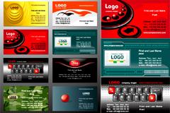 国外风格卡片模板设计矢量素材