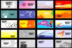 50多款简约潮流卡片模板设计矢量素材