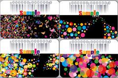 潮流精美卡片模板设计矢量素材