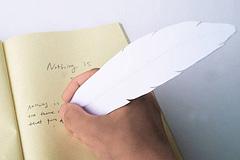 可当书签的鹅毛笔