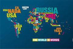 极具创意的字母世界地图