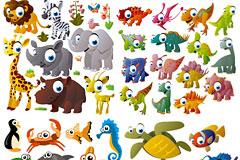多款可爱的矢量卡通动物