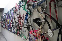 拆掉自行车创造另类艺术