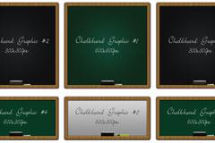 4个黑板图形PSD素材免费下载