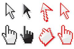 鼠标手和鼠标箭头图案下载