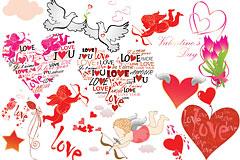 情人节和丘比特爱神元素