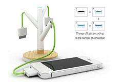 别致树形手机充电站