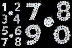 闪耀钻石组成的矢量数字