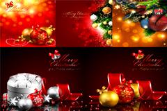 多款超精美的圣诞主题背景矢量素材