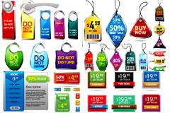 各种常用销售标签和提示牌矢量素材