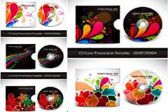 多款缤纷绚丽CD设计矢量素材