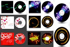 绚丽花纹CD盘面设计矢量素材