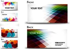 超炫花纹卡片模板矢量素材