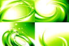 精美绿色炫动背景矢量素材