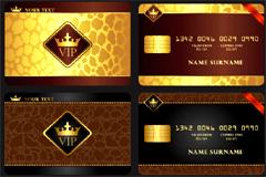 金色华丽VIP卡模板矢量素材