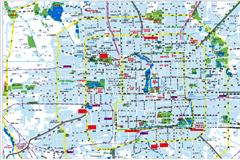 精细绘制北京城区地图矢量素材