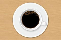咖啡杯俯视图psd分层素材