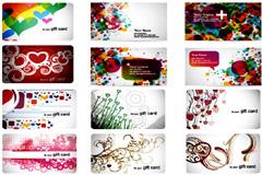 多款时尚元素卡片模板矢量素材