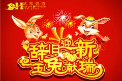 2011玉兔献瑞矢量素材