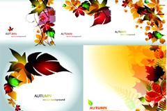五彩缤纷的树叶矢量素材
