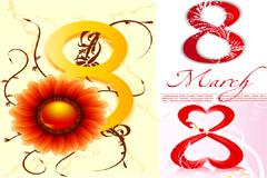 几款三八妇女节主题插画矢量素材