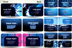 蓝色科技主题卡片模板矢量素材