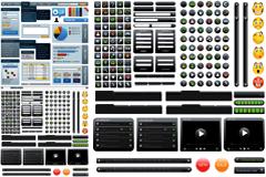 网页设计相关元素矢量素材