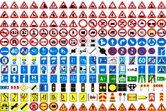 各种常见交通标志矢量素材