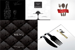 西式风格菜单模板矢量素材