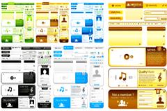 多款实用网页设计模板矢量素材