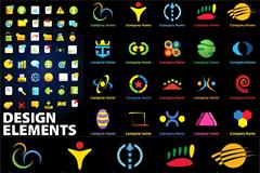 多款抽象企业logo设计矢量素材