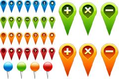 GPS导航图标PSD素材