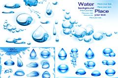 精美水滴和水泡矢量素材