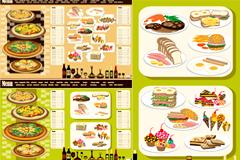 2套西餐菜单模板矢量素材