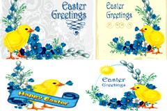 复活节卡片矢量素材