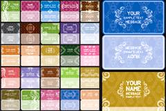 欧式花纹卡片背景矢量素材