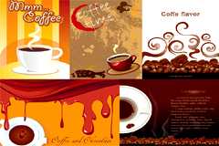 咖啡主题海报矢量素材