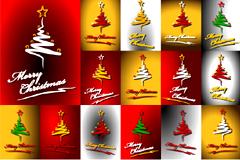 抽象精美圣诞树矢量素材
