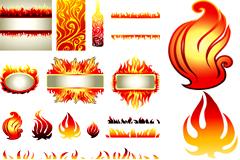 潮流火焰元素矢量素材
