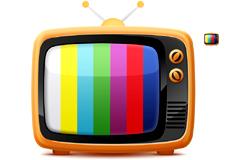 怀旧风格小电视机PSD素材